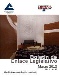 Boletin de Enlace Legislativo Marzo 2013 - Concanaco