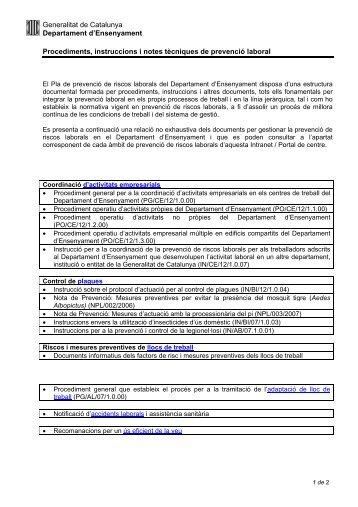 Documentaci elaborada sobre Prevenci de Riscos Laborals