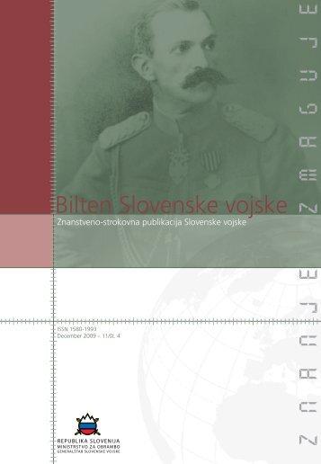 Letnik 11/4, december 2009 - Slovenska vojska