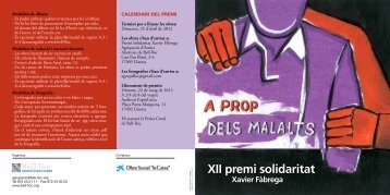 XII premi solidaritat