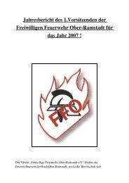 Jahresbericht des 1 - Freiwillige Feuerwehr Ober-Ramstadt