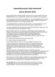 Jugendfeuerwehr Ober-Ramstadt Jahres Bericht 2010
