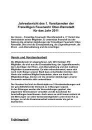 1. Vorsitzender - Freiwillige Feuerwehr Ober-Ramstadt