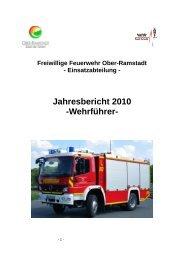 Jahresbericht 2010 -Wehrführer-
