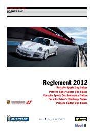 Reglement 2012 PSC Schweiz - Porsche Club CMS