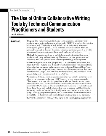The Use of Online Collaborative Writing Tools by Technical ...