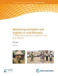 Monitoring sanitation and hygiene in rural Ethiopia