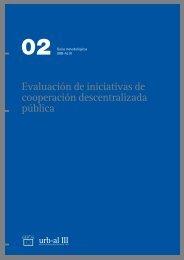 Evaluación de iniciativas de cooperación descentralizada pública