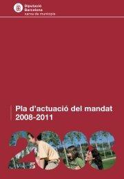 Pla d'actuació del mandat 2008-2011