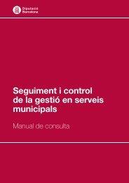 Seguiment i control de la gestió en serveis municipals