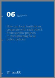From specific projects to strengthening local public policies