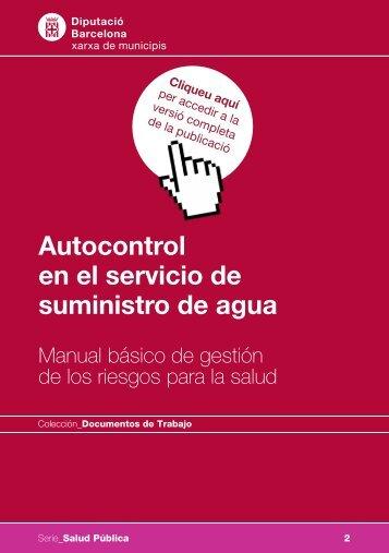 Autocontrol en el servicio de suministro de agua