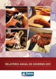 RELATÓRIO ANUAL DE GOVERNO – 2011