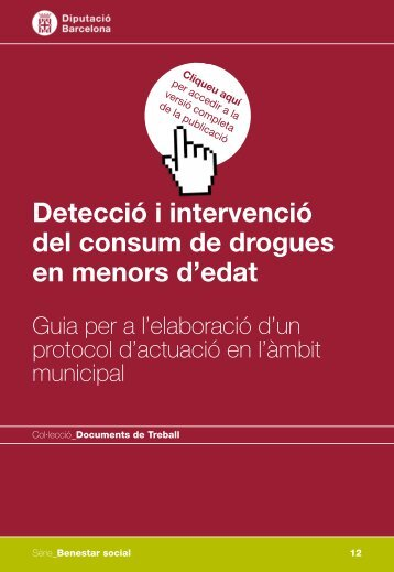Detecció i intervenció del consum de drogues en menors d'edat