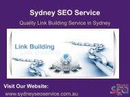 SEO Link Building Services Sydney | Quality Link Building Services Sydney