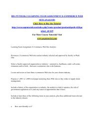 BIS 375 WEEK 2 LEARNING TEAM ASSIGNMENT E-COMMERCE WEB SITE ANALYSIS