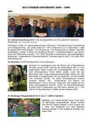 Aus unserer Geschichte 2006 – 2009 - Pfadfinder-Fördererkreis ...