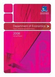 Department of Economics Annual Report 2008 (PDF 1.4