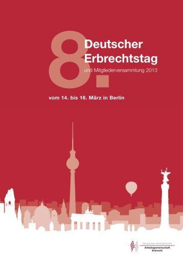 8 Deutscher Erbrechtstag