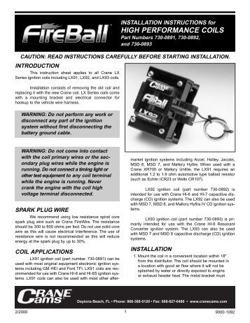 LX Low Profile E-Core Coils - Crane Cams