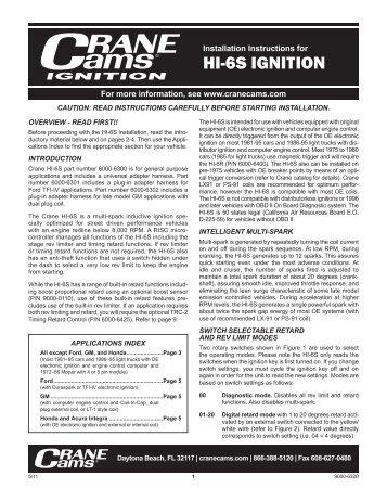 HI-6S IGNITION