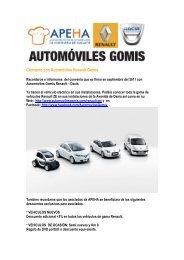 Convenio con Automóviles Renault Gomis