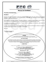 Manual do Candidato - ftc ead