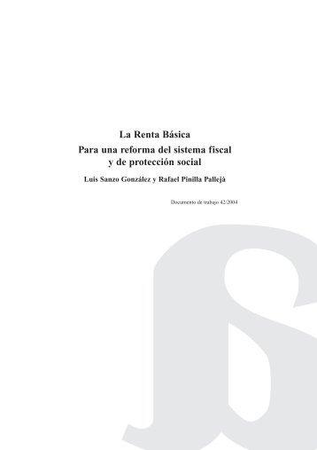 La Renta Básica Para una reforma del sistema fiscal y de protección social