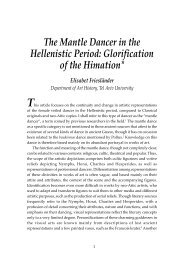 The Mantle Dancer in the Hellenistic Period: Glorification of the ...