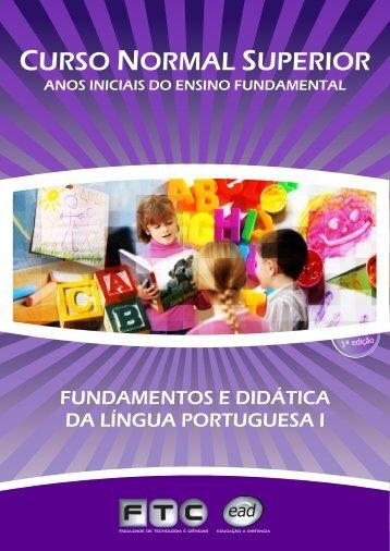 FUNDAMENTOS DIDÁTICA LÍNGUA PORTUGUESA