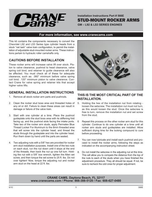 installation instructions Piston Contact Holding proceed