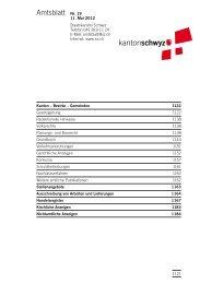 Amtsblatt Nr. 19 vom 11. Mai 2012 (1620 - Kanton Schwyz