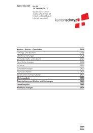 Amtsblatt Nr. 42 vom  19. Oktober 2012 - Kanton Schwyz