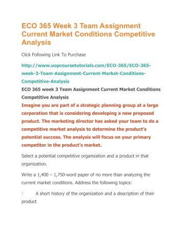 current market conditions a competitive analysis 1 starbucks current market conditions competitive analysis nathaniel cox, cassandra eguiluz, bryan walters, eco/365 march 16, 2015 nikita nichols 2 starbucks current market conditions competitive analysis in business, an organization needs an understanding of its target market and the current economic conditions in order to grow and become successful.