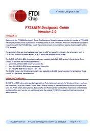 FT232BM Designers Guide - FTDI