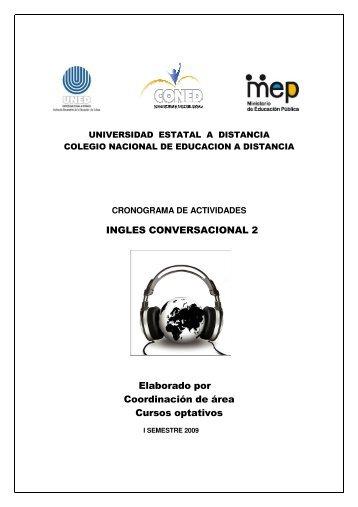 INGLES CONVERSACIONAL 2 Elaborado por Coordinación de área Cursos optativos