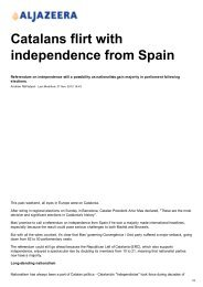 Catalans flirt with independence from Spain