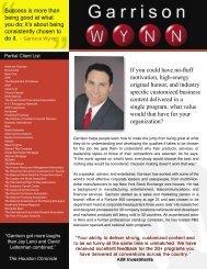Motivational Speaker Garrison Wynn - Wynn Solutions