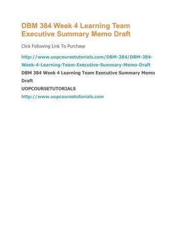 executive summary memo