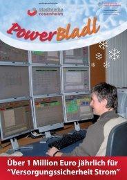 POWERbladl 27 - Ausgabe Dezember 2009 - Stadtwerke Rosenheim