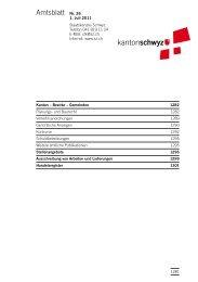 Amtsblatt Nr. 26 vom 1. Juli 2011 (606 - Kanton Schwyz