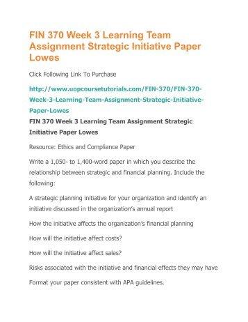 strategic initiative week 3 fin 370 microsoft Fin 370 week 3 team assignment strategic initiative paper fin 370 individual week four myfinancelabpractice  microsoft obtain faculty.