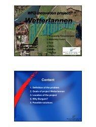 Goals project Wetterlannen