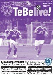siehe www.tebe.de! - Tennis Borussia Berlin