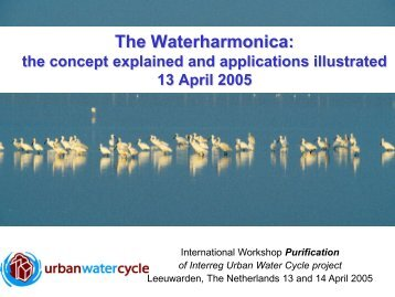 Surface waters - De Waterharmonica