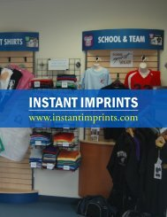 INSTANT IMPRINTS - The American Business Journal