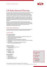 LTE Radio Network Planning - tfk