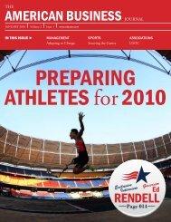 Preparing athletes for 2010