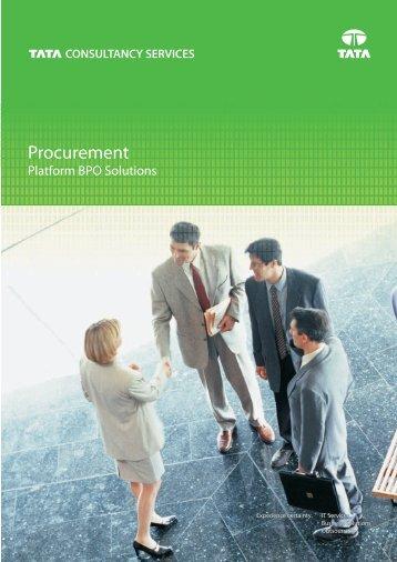 Procurement focus area_030909.cdr - Tata Consultancy Services