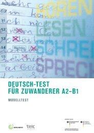 deutsch-test für zuwanderer a2–b1 modelltest - telc GmbH
